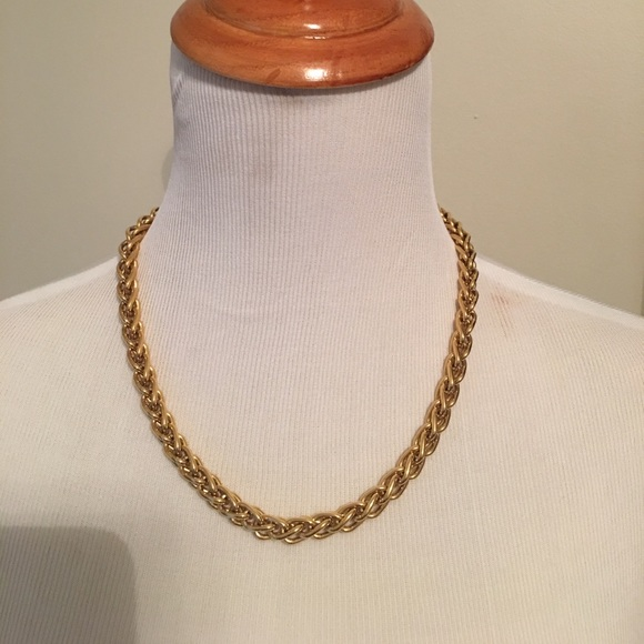 Monet Jewelry Vintage Heavy Gold Necklace Link Chain Poshmark